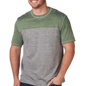 G.H. Bass Green Grey Cap Sleeve Shirt Sz 2XL